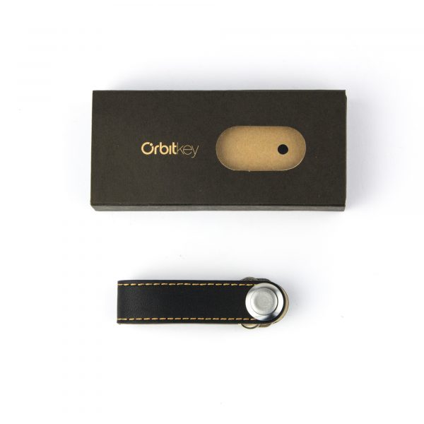Orbitkey, Black with Tan stitch