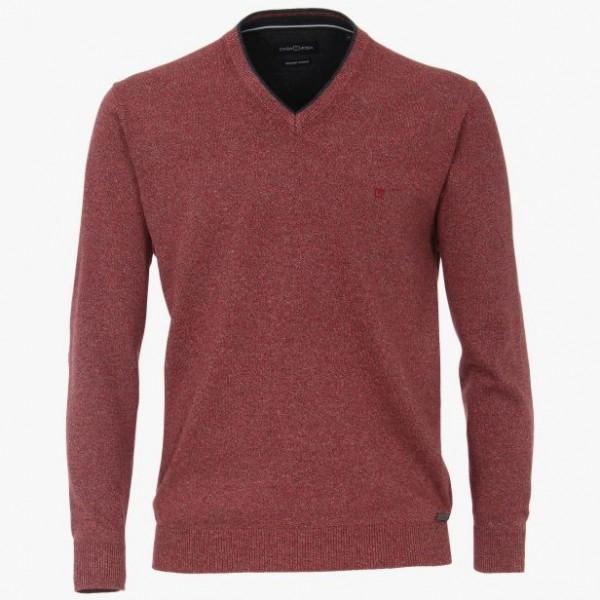 Casa Moda V Neck Marl Medium Red 416