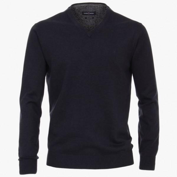 Casa Moda V neck Grey Dark Blue 135