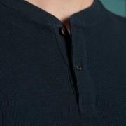 Micro Texture Henley Navy 3