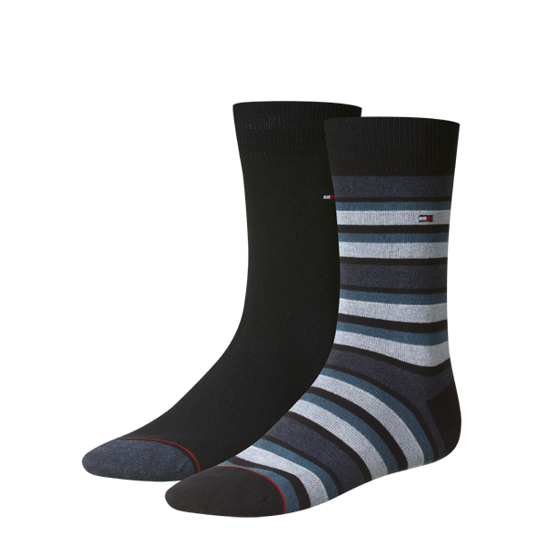Tommy Hilfiger, Black/Black and Grey irregular stripe