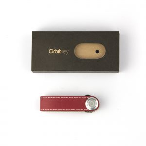 Orbitkey, Red with White stitch