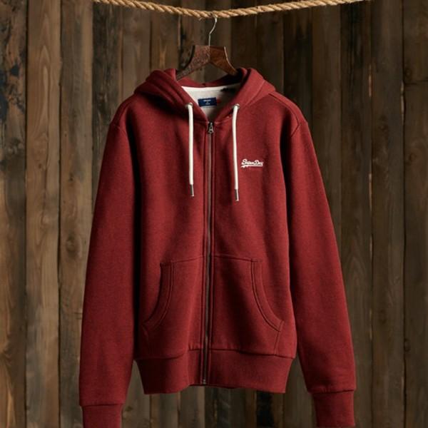 Ol Zip Hood Rich Red Grit