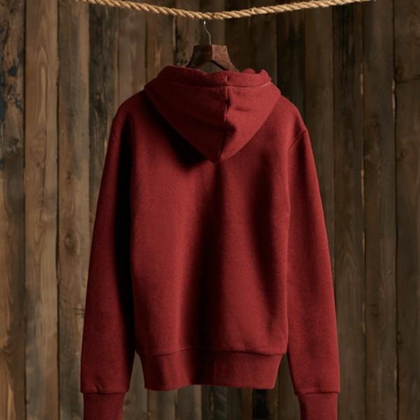 Ol Zip Hood rich Red Grit 2